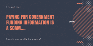 Paying for Government Funding Information
