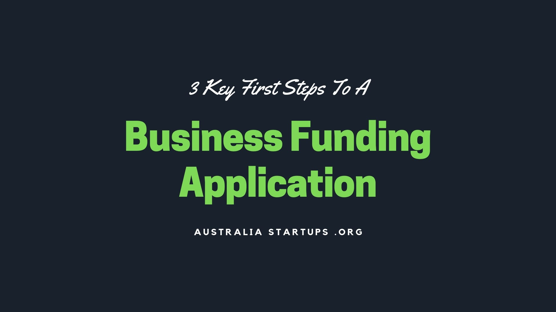 Business Funding Application